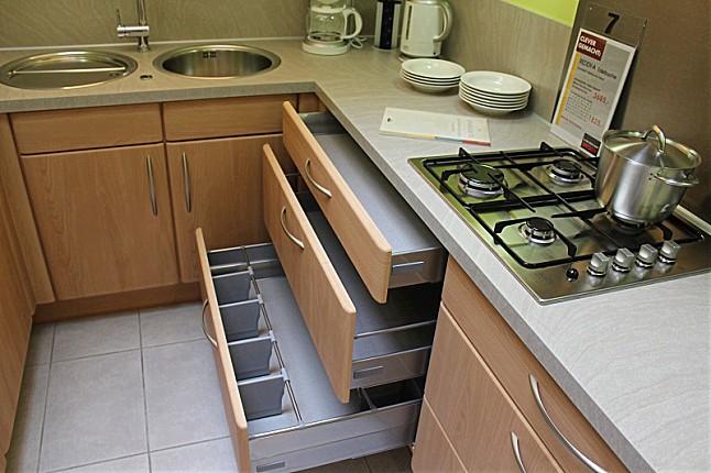nobilia musterk che reddy a edelbuche ausstellungsk che. Black Bedroom Furniture Sets. Home Design Ideas
