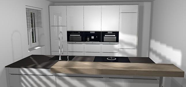 nobilia musterk che k che mit k chenzeile in hochglanz und den top ger ten von miele und bora. Black Bedroom Furniture Sets. Home Design Ideas