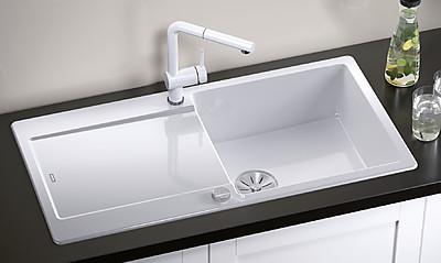 Einbauspüle für die Küche in der Silgranitfarbe Weiß