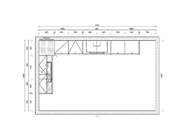 h cker musterk che moderne k chenzeile mit granit. Black Bedroom Furniture Sets. Home Design Ideas