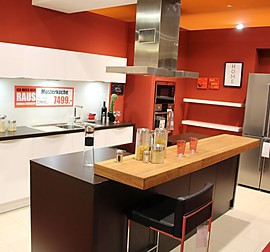 schmidt k chen musterk che grifflose moderne k che in betonoptik mit kochinsel. Black Bedroom Furniture Sets. Home Design Ideas