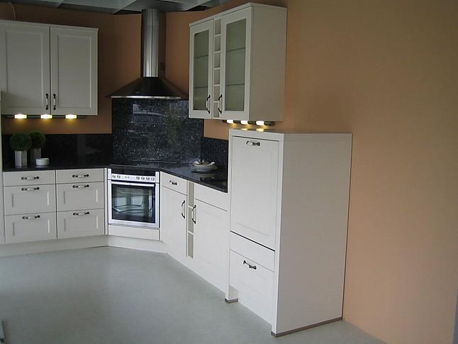 nobilia musterk che rahmenfront magnolia matt arbeitsplatte echter granit ausstellungsk che in von. Black Bedroom Furniture Sets. Home Design Ideas