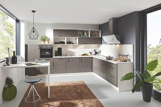 Wunderschöne Hochglanz Küche Betonoptik weiß