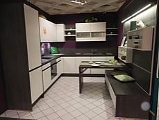 nobilia musterk che dezente k che in wei supermatt paneelwand eiche basalt ausstellungsk che. Black Bedroom Furniture Sets. Home Design Ideas