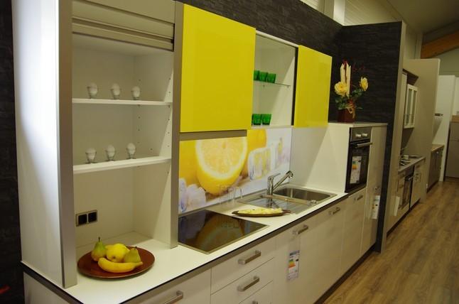 nolte musterk che moderne planung incl beleuchtete lemon. Black Bedroom Furniture Sets. Home Design Ideas