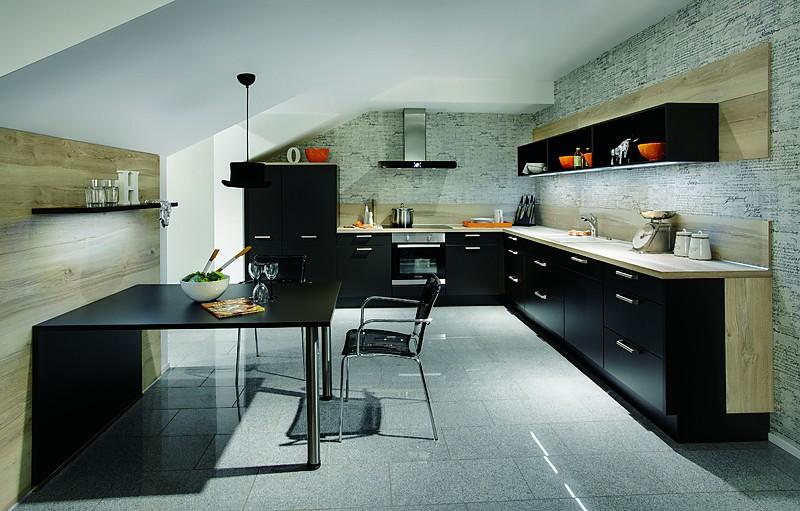 nobilia musterk che preiswerte nobilia eckk che 593 pia 506 terra schwarz mit bosch moderne. Black Bedroom Furniture Sets. Home Design Ideas