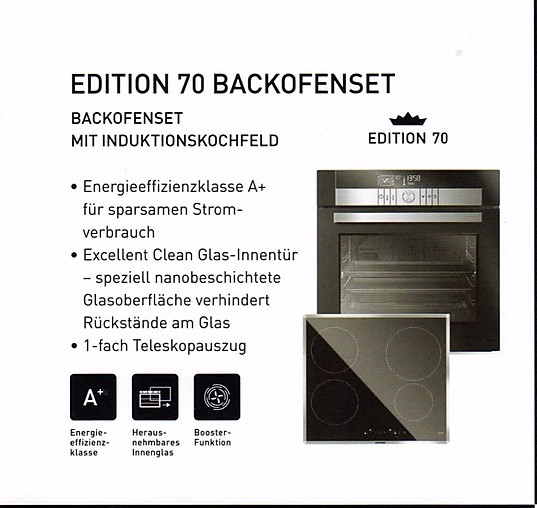 herdset edition backofen set mit induktionskokochfeld a grundig k chenger t von unikat k chen. Black Bedroom Furniture Sets. Home Design Ideas