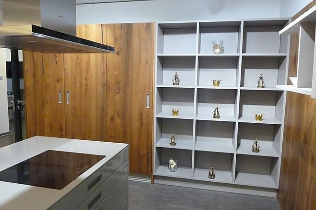 next125 musterk che nx 501 tr ffelbraun hochglanz lack mit f 805 echtholz furnier alteiche. Black Bedroom Furniture Sets. Home Design Ideas