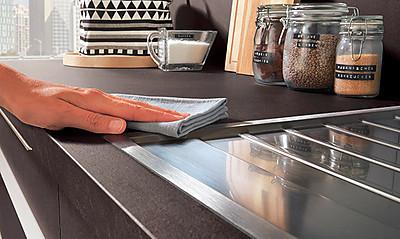 Nobilia Küchen: Xtra-Arbeitsplatte. Foto: Nobilia