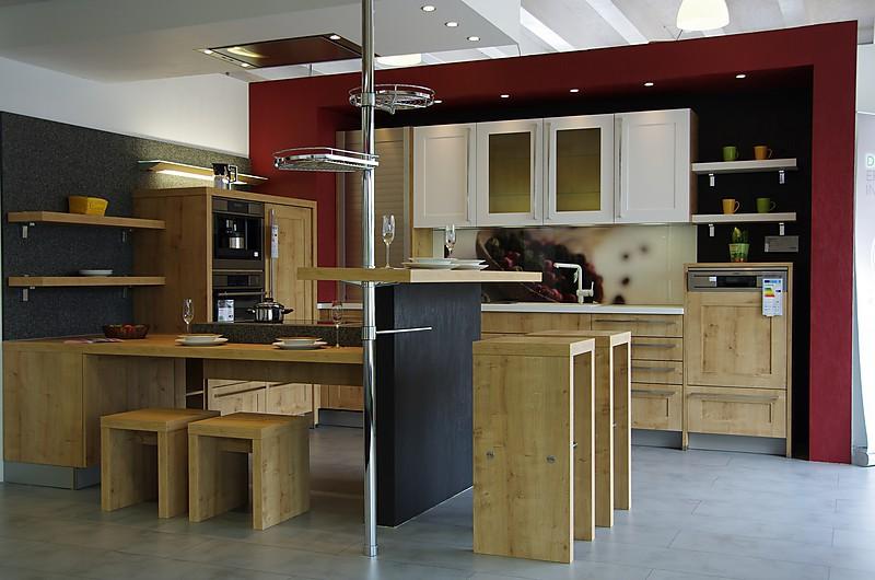 nolte musterk che 465 kunststoff vienna chalet eiche wei ausstellungsk che in weilbach. Black Bedroom Furniture Sets. Home Design Ideas