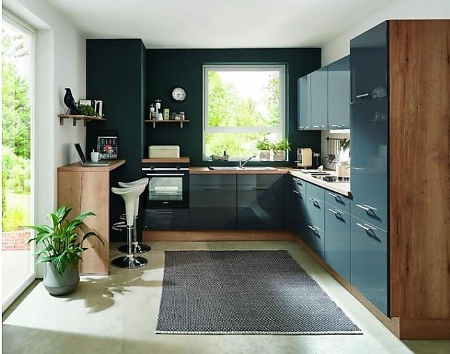 nobilia-musterküche moderne hochglanz l küche mit geräten