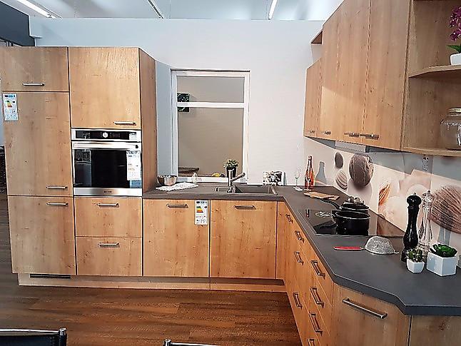 nobilia musterk che l k che in eiche provence nachbildung. Black Bedroom Furniture Sets. Home Design Ideas