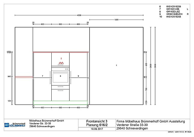 sch ller musterk che gro e moderne k che in sandgrau. Black Bedroom Furniture Sets. Home Design Ideas