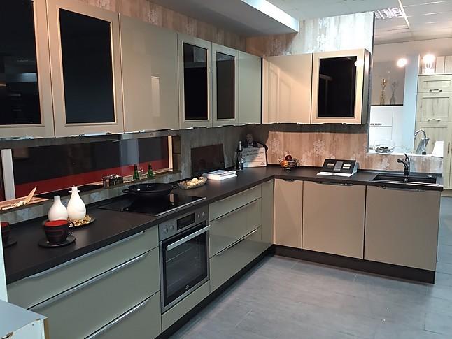 Küchenangebote köln  Nobilia-Musterküche Xeno Sandbeige und weiß: Ausstellungsküche in ...