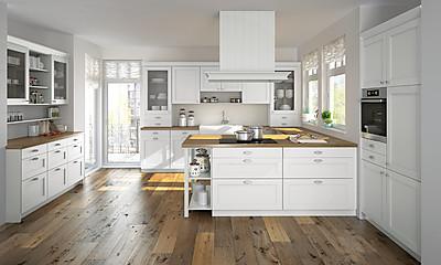 Ländliche Küche Alaska Weiss