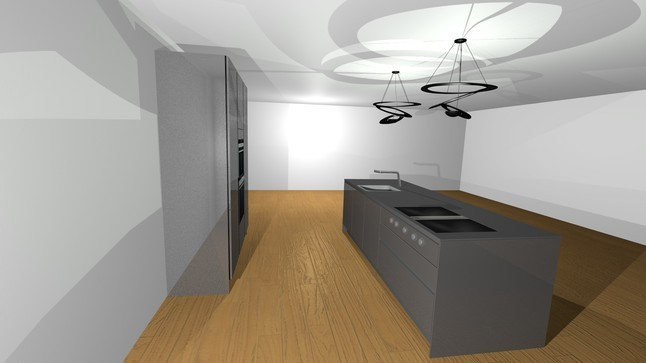 siematic musterk che siematic sterlinggrau hochgl nz ausstellungsk che in m nchen von gienger. Black Bedroom Furniture Sets. Home Design Ideas