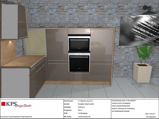 nobilia musterk che zeitlose lackk che in magma ausstellungsk che in gelsenkirchen von lachmann. Black Bedroom Furniture Sets. Home Design Ideas