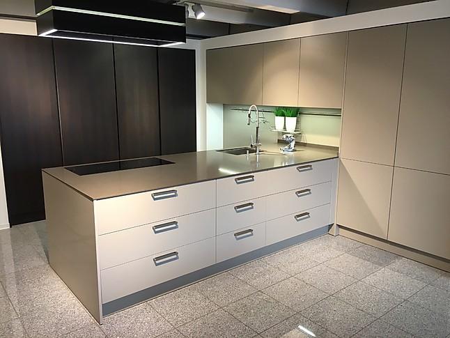 Eggersmann   Como 129 KU Cappuccino Kombiniert Mit Tunis 835 KU Eiche Maron Zeitlos  Moderne Einbauküche