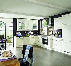 inpura musterk che landhausk che breda magnolie kunststoff ummantelt matt ausstellungsk che in. Black Bedroom Furniture Sets. Home Design Ideas