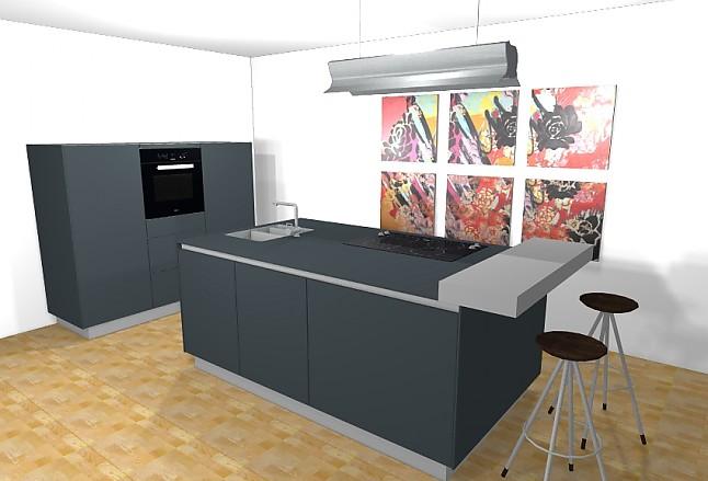 bulthaup musterk che k cheninsel graphit ausstellungsk che in bremen von bulthaup schwachhausen. Black Bedroom Furniture Sets. Home Design Ideas