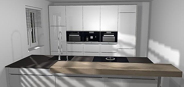 Nobilia Musterküche Küche mit Küchenzeile in Hochglanz und