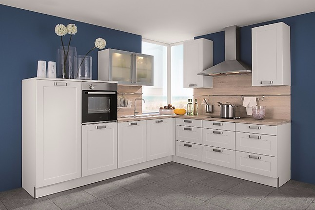 Inpura-Musterküche Kleine Küche mit viel Stauraum Lotus Weiß ...