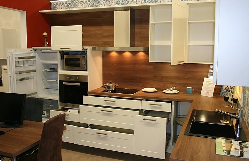h cker musterk che l musterk che landhaus modern in weiss matt 355 cm x 256 cm. Black Bedroom Furniture Sets. Home Design Ideas