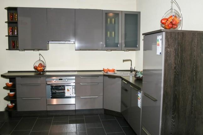 nobilia musterk che gloss 841 ausstellungsk che in. Black Bedroom Furniture Sets. Home Design Ideas