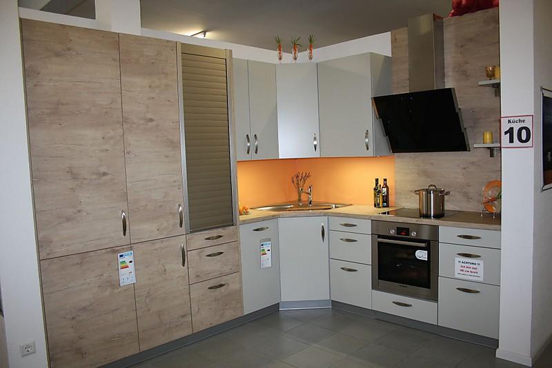 Störmer Küchen-Musterküche Küche10 - Matt Lack mit Holz ...