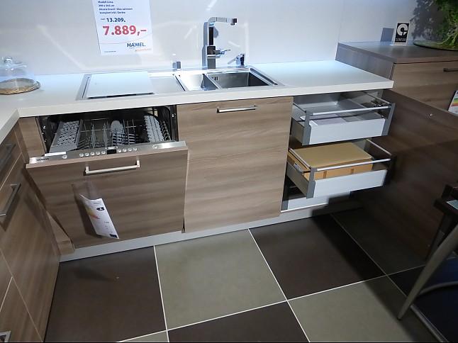 Contur-Musterküche L-Küche komplett mit Siemens Elektrogeräten ...