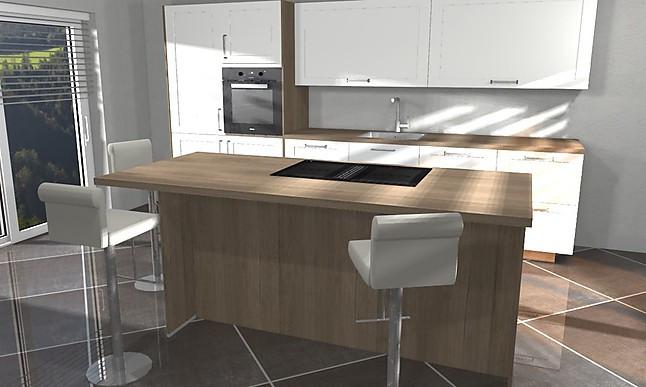 Artego Construkta Magnilia Küchenzeile Mit Kochinsel, Hoch Eingebautem  Backofen Uvm.