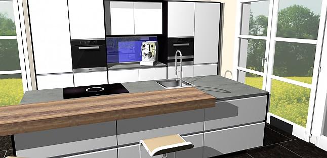 nobilia musterk che design hochglanz k che mit insel kochen und sp len ausstellungsk che in. Black Bedroom Furniture Sets. Home Design Ideas