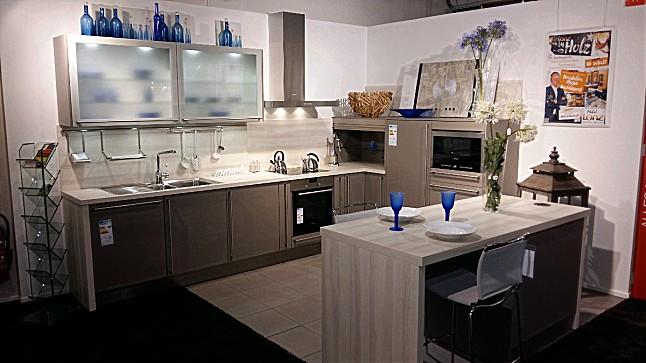 h cker musterk che uno basaltgrau ausstellungsk che in. Black Bedroom Furniture Sets. Home Design Ideas