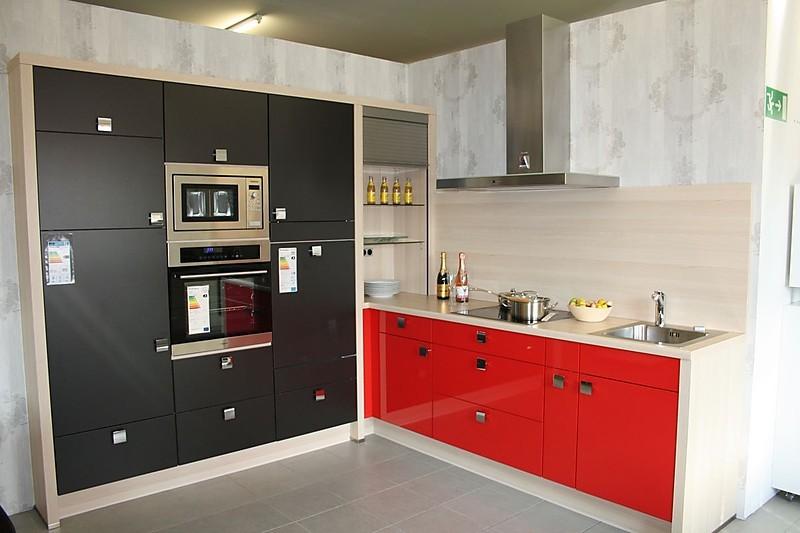 Nobilia kuche rot hochglanz ihr traumhaus ideen for Kuche schwarz rot