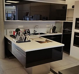 nolte musterk che gro e nolte k che artwood astwood eiche mit kochinsel in basalt dekor. Black Bedroom Furniture Sets. Home Design Ideas