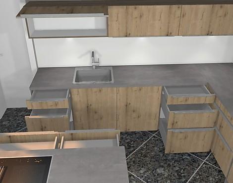 L Küche Mit Kochinsel, Hochgebautem Backofen Uvm. Artwood
