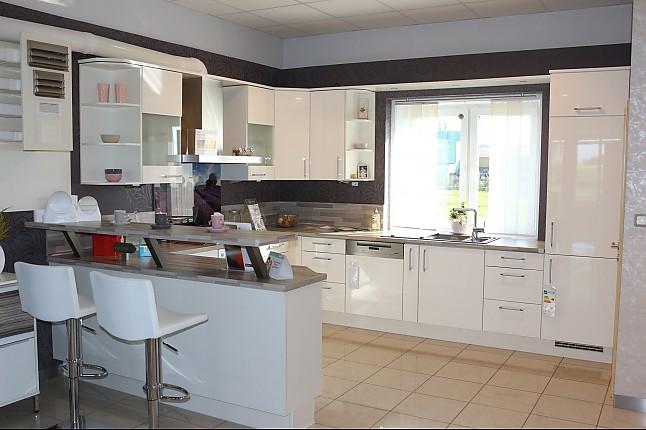 Sehr Nobilia-Musterküche U-Küche mit Theke: Ausstellungsküche in BF62