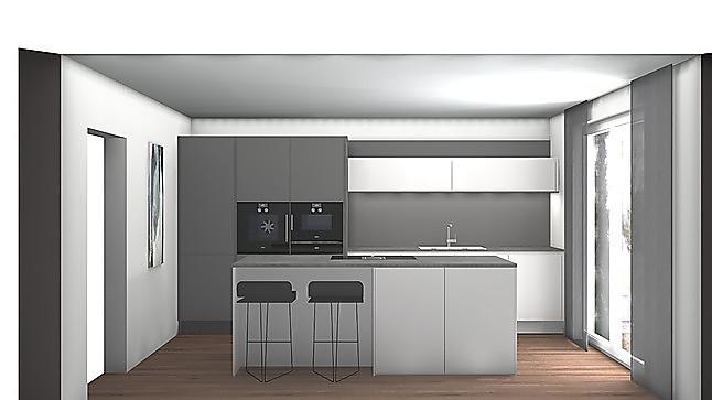 siematic musterk che s2k kunststoff in sterlinggrau und graphitgrau matt ausstellungsk che in. Black Bedroom Furniture Sets. Home Design Ideas