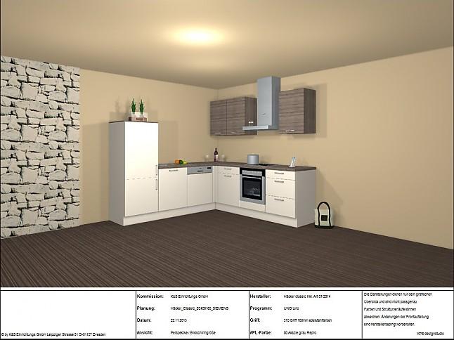 h cker musterk che design winkelk che mit siemens ger ten ausstellungsk che in coswig von k s. Black Bedroom Furniture Sets. Home Design Ideas