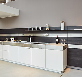 bulthaup musterk che 1 bank c3 wandh ngend mit wandpaneel. Black Bedroom Furniture Sets. Home Design Ideas
