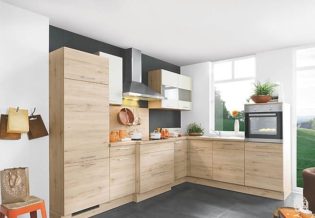 moderne kleine Holz L Küche