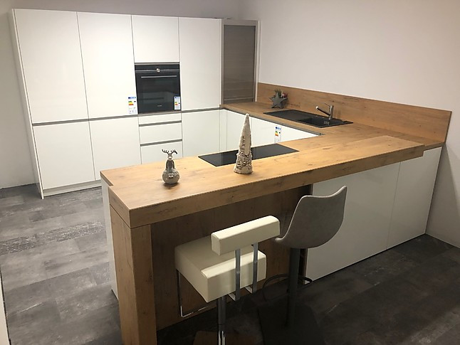 Sonstige-Musterküche Manufaktur Küche Kombination Eiche/Weiß ...