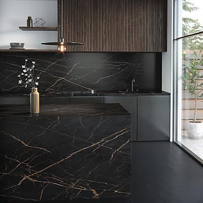 Küche mit Dekton-Oberflächen aus der Kollektion THE COLLECTION - Serie Portfolio'20 in der Farbe Laurent