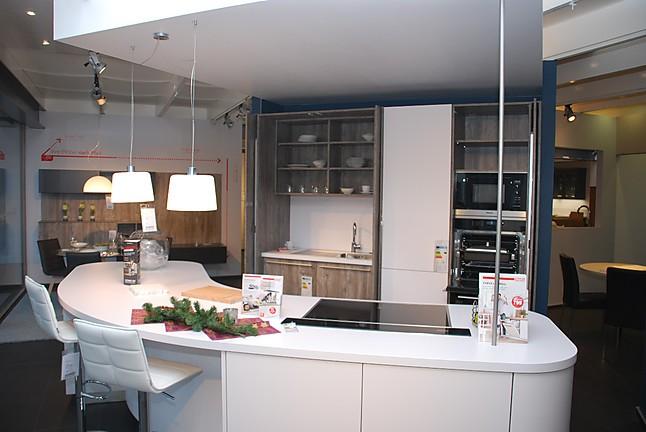 Schmidt Küchen   Grio / Moon Worku0027n Hide Küche Mit Moderner, Abgerundeter  Insel