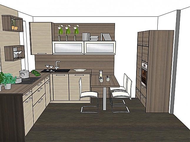 sonstige musterk che akazie hell akazie grau ausstellungsk che in peiting von k chenhaus. Black Bedroom Furniture Sets. Home Design Ideas