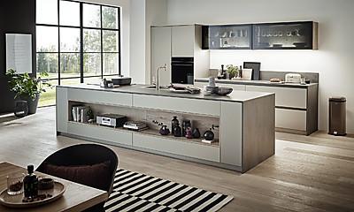 Moderne Küche Esprit Platinom in Metalli-Optik von Beckermann