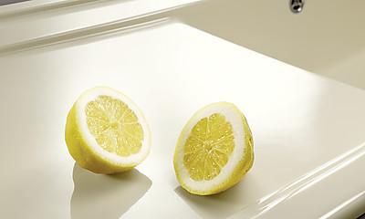 Spüle aus SILGRANIT® in der Farbe Jasmin