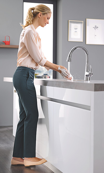 Armaturenmodell mit GROHE FootControl Bedienung