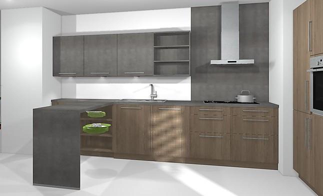 artego musterk che artego k che in beton holz optik l. Black Bedroom Furniture Sets. Home Design Ideas