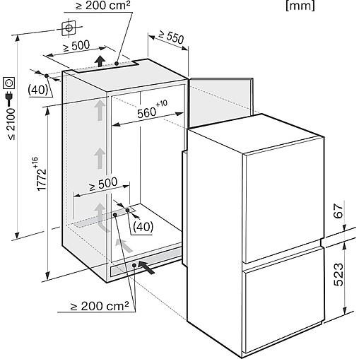 k hlschrank kf 37122 id miele einbau k hl gefrierkombination miele k chenger t von miele maier. Black Bedroom Furniture Sets. Home Design Ideas